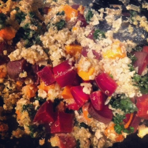 Ground Turkey and Kale Quinoa